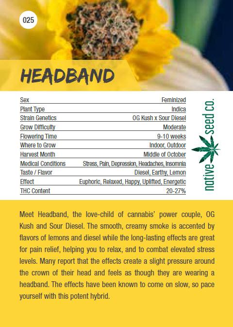 Native Seed Co. Collector Card - Headband - Back