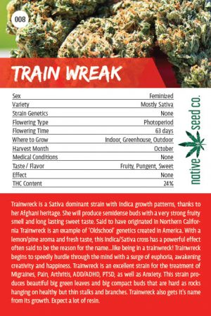 Native Seed Co. Collector Card - Train Wreck - Back